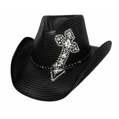 Blessed - Shantung Panama Straw Cowboy Hat