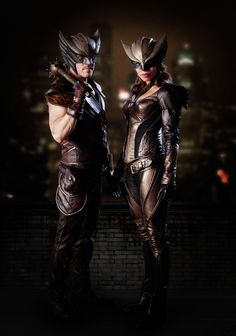 The Legends of Tomorrow are coming to life.  On Friday, a new image provided the first look at Hawkgirl (Ciara Renée) and Hawkman (Falk Hentschel), who will both first appear on Arrow and The Flash before moving on to the spin-off.
