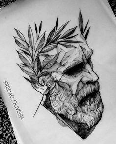 dessin tatouage veni-vidi-vici-paroles-César