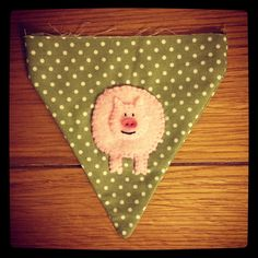 #felt #applique made for #baby #christening #bunting. Visit www.made-by-Gemma.co.uk to see more handmade bunting. Make And Sell, How To Make, Baby Christening, Felt Applique, Bunting, Handmade, Design, Garlands, Hand Made