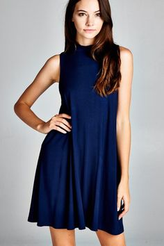 Basic Mock neck dress, great for layering! #dress #gypsyoutfitters