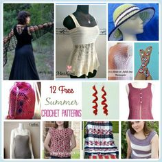 12 of the Best, Free Summer #crochet patterns are found on SimplyCollectibleCrochet.com  Summer lovelies for your lovelies.