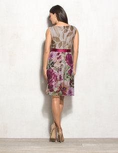 Misses | Dresses | A-line Dresses | Belted Statement Floral Dress