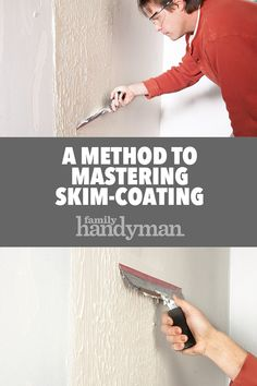 A Method to Mastering Skim-Coating Source by family_handyman Home Improvement Loans, Home Improvement Projects, Skim Coat Plaster, Home Renovation, Home Remodeling, Skim Coating, Home Maintenance Schedule, Kitchen Sink Interior, Kitchen Cabinets