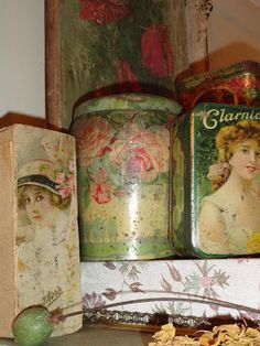 A Huntley & Palmers rose biscuit tin from Trash and Treasure