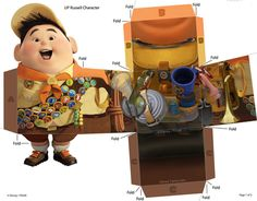 giocattoli-carta-film-pixar Quilled Paper Art, Paper Crafts Origami, Disney Up, Disney Pixar, Up Pixar, Film Pixar, Disney Printables, Up Theme, Toy Craft