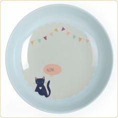 Assiette creuse Les chats soufflent (22.5 cm) - Love Maé