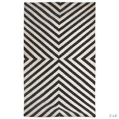 Jonathan Adler Bridget Black/White Rug
