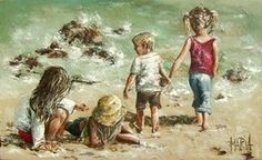 Art Painting by Maria Magdalena Oosthuizen includes One Day At The Beach, this example of Contemporary Art has inspired this exceptionally talented artist. View other Paintings by Maria Magdalena Oosthuizen in our Online Art Gallery. Art Gallery, Painting People, Fine Art Painting, Online Art, Types Of Art, Art, Maria Magdalena, Beach Art, Online Art Gallery