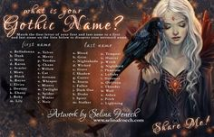 What is your Gothic Name? I got raven caster