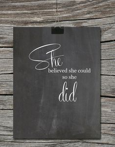 Chalkboard Motivational Quote For Girls  by ATimeAndPlaceDesign, $5.00