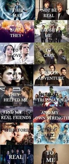 I know: Percy Jackson The Hunger Games (watched not read) Harry Potter TFIOS (not watched/read) Twilight (didn't watch/read and never will) The Lion the witch and the Wardrobe/Narnia and, of course 'TEEN WOLF!!!!!!!!!!!!' (which, when i saw it the first time, i honestly thought was just another twilight one, till I looked closer and realised it was from season 1-3, but DEFINITELY not from season 4, since, 'unfortunately' *evil smirk* Allison DOES NOT make it to Season 4. a heh, heh….