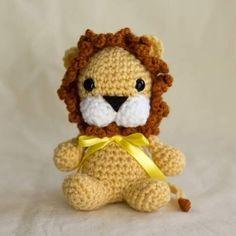 ROAAAR! Says the not so fierce little lion #crochet #amigurumi #lion #plush #pattern #TheLoftyLoop #etsy #crafts #softies #cute by goffinette