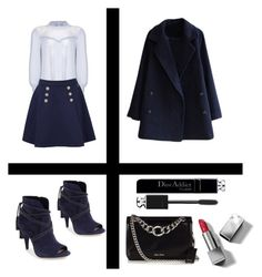 """""""Sans titre #380"""" by giirly1994 ❤ liked on Polyvore featuring Ghost, Tommy Hilfiger, Vince Camuto, Miu Miu, Burberry and Christian Dior"""