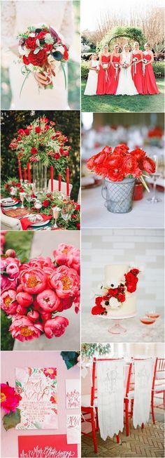Wedding Color Trends 2016: Pantone Fiesta Red Wedding Ideas | http://www.deerpearlflowers.com/wedding-color-trends-2016-pantone-fiesta-red-wedding-ideas/