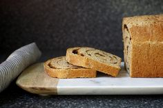 Whole Grain Cinnamon Swirl Bread.