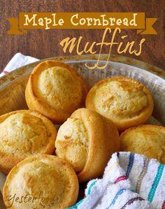 Maple Cornbread Muffins // coconut flour, cornmeal, baking powder, salt, milk, egg, maple syrup, butter