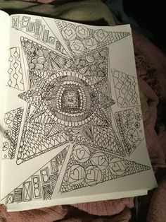 Journal entry zen doodle by Shirley