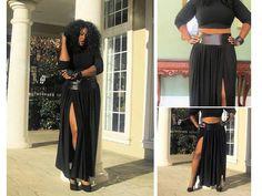 Sexy maxi skirt for the plus size set @ spoileddivaonline.com
