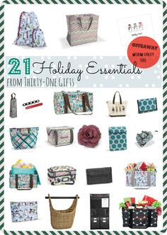 21 Holiday Essentials From Thirty-One Gifts - Eclectic Momsense