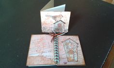 Card and altered note book