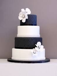Navy Blue stripe white wedding cake - Google Search