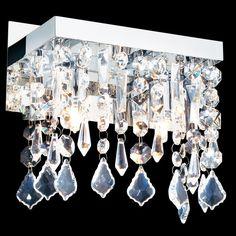 A773N Moderne Kristall Wand Leuchte 200mm 2x40W Chrom Metall Lampe Design In