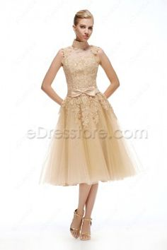 Poofy Tea Length Dress