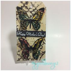 A #tag I tried to make for Mother's Day. #papercrafting #papercraft #stamping #distressink #timholtz #paperblessings3