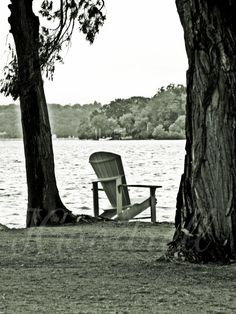 Lake Chair outdoor texture black and white photo paper or canvas large wall art print 5x7 8x10 and larger nature picture on Etsy, $10.00