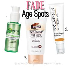 Products to fade age spots