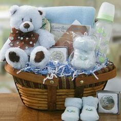 Celebrate your family member's, friend's or colleague's newest arrival with unique personalized baby gifts baskets ideas.