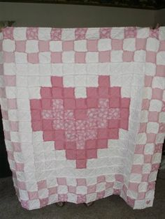 breast cancer quilts | Thread: Heart Rag Quilt