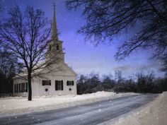 country church winter | Country church in winter