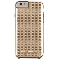 Rebecca Minkoff x Case-Mate Studded iPhone 6 Case ($38) ❤ liked on Polyvore featuring accessories, tech accessories, cases, electronics, gold, phone cases and rebecca minkoff
