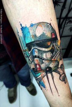 Stormtrooper Star Wars Tattoo b Felipe Fe Rod