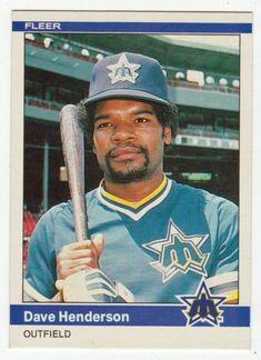 Dave Henderson # 611 - 1984 Fleer Baseball