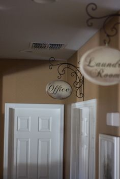 My Cottage Charm: How to Make a Hallway Sign- for dining nook inspired by Sarah Richardson farm dining nook