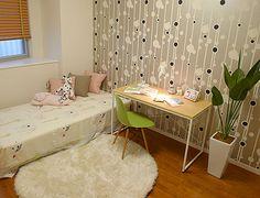 K138 グリーンを生かして・・・ ゆったりと過ごせる私の部屋。グリーンをアクセントにして、爽やかな印象に・・・。