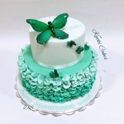 Butterfly cake by Donatella Bussacchetti Beautiful Wedding Cakes, Gorgeous Cakes, Butterfly Cakes, Love Cake, Cake Pans, Cake Decorating, Birthday Cake, Treats, Hand Painted