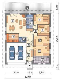 C288 Wykonany Rzut parteru POW. 150,3 m²
