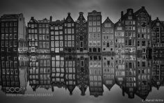 Canal Pride by MarcelWitte Damrak Amsterdam If you like my work feel free to follow me on Facebook #architecture #art #photography #urban #city