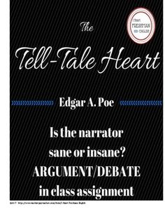 The Tell-Tale Heart| Edgar Allan Poe| Argument| Debate| In class activity| Textual Evidence| Text Based Evidence