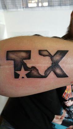 Hubby's Texas tattoo