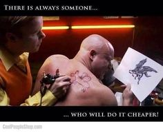 i think the better questions is why is the THAT guy getting a pegasus tattoo? Funny Tattoos, Bad Tattoos, Worst Tattoos, Tatoos, Tattoo Humor, Friend Tattoos, Life Tattoos, Troll, Pegasus Tattoo
