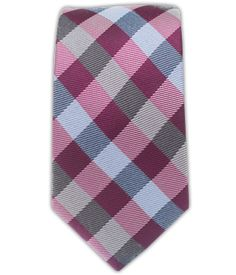 Gingham Fusion - Azalea (Wool Skinny) | Ties, Bow Ties, and Pocket Squares | The Tie Bar