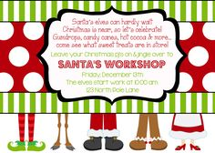 Santa's Workshop Party Invitation