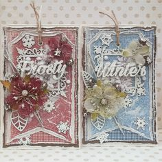 """Frosty Winter - """"Vintage Winter"""" collection by Maja Design Beautiful Christmas Cards, Shabby Chic Cards, Vintage Winter, Winter Cards, Winter Collection, Cardmaking, Snowflakes, Embellishments, Paper"""
