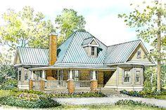 Farmhouse Style House Plan - 2 Beds 2.00 Baths 1270 Sq/Ft Plan #140-133 Exterior - Front Elevation - Houseplans.com