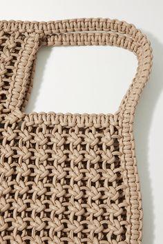 Macrame Purse, Net Bag, Diy Hair Accessories, Macrame Patterns, Knitted Bags, Vegan Leather, Basket, Macrame Projects, Ikebana